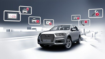 Audi connect Emergency & Service incl. vehicle control features