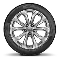 "18"" x 8J '10-spoke V' design alloy wheels with 245/45 R18 tyres"