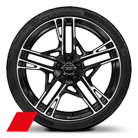 Alloy wh. 8.5J+11Jx20, 5-doub.-spoke dynamic style, Anthracite Black, dia.-turned w/ 245/30 + 305/30 R20 tires