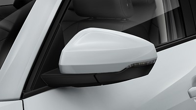 Body-colored exterior mirror housings