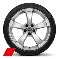 "19"" x 8J '5-arm rotor design' alloy wheels in galvanised silver with 235/35 R19 tires"