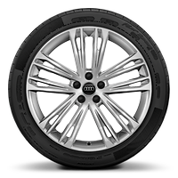 20'' x 8.5J '5-twin-spoke V' design cast aluminium alloy wheels with 255/40 R20 tyres