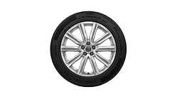 Complete winter wheel in 5-arm design, brilliant silver, 8.5 J x 20, 265/50 R20 111H XL