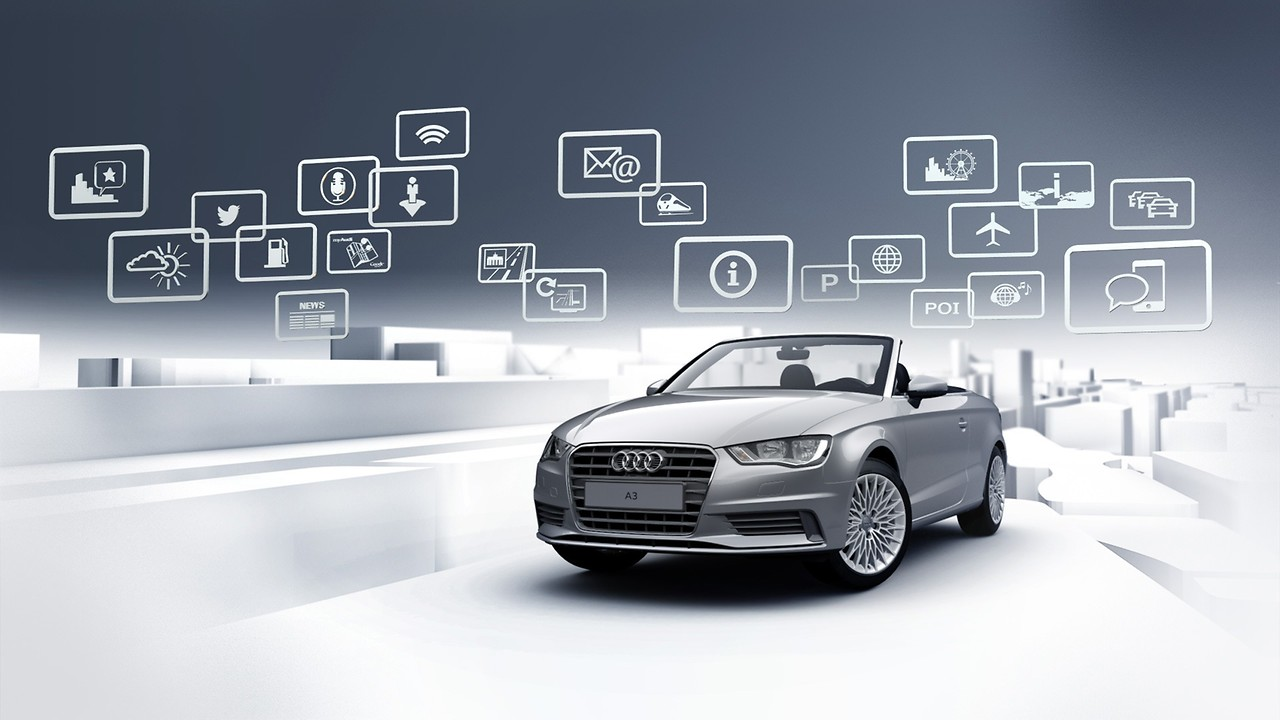Audi connect CARE assistance and security services and six-month trial subscription to Audi connect PRIME and Audi connect PLUS online services