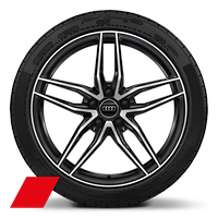Alloy wheels, 5-double-spoke style, Anthracite Black, diamond-turned, 8.5J|11.0Jx19, 245/35|295/35 R19 tires