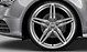 Cast aluminium alloy wheels, 5-twin-spoke star design, size 8.5 J x 19, with 255/40 R 19 tyres