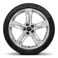 Audi Sport cast alloy wheels, 5-spoke blade style, 9J x 19 with 245/35 R19 tires