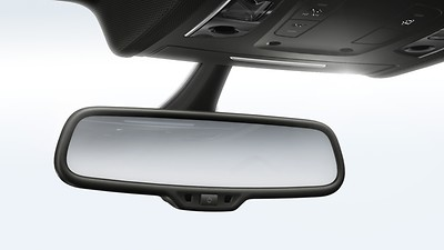 Automatically dimming, anti-glare interior mirror