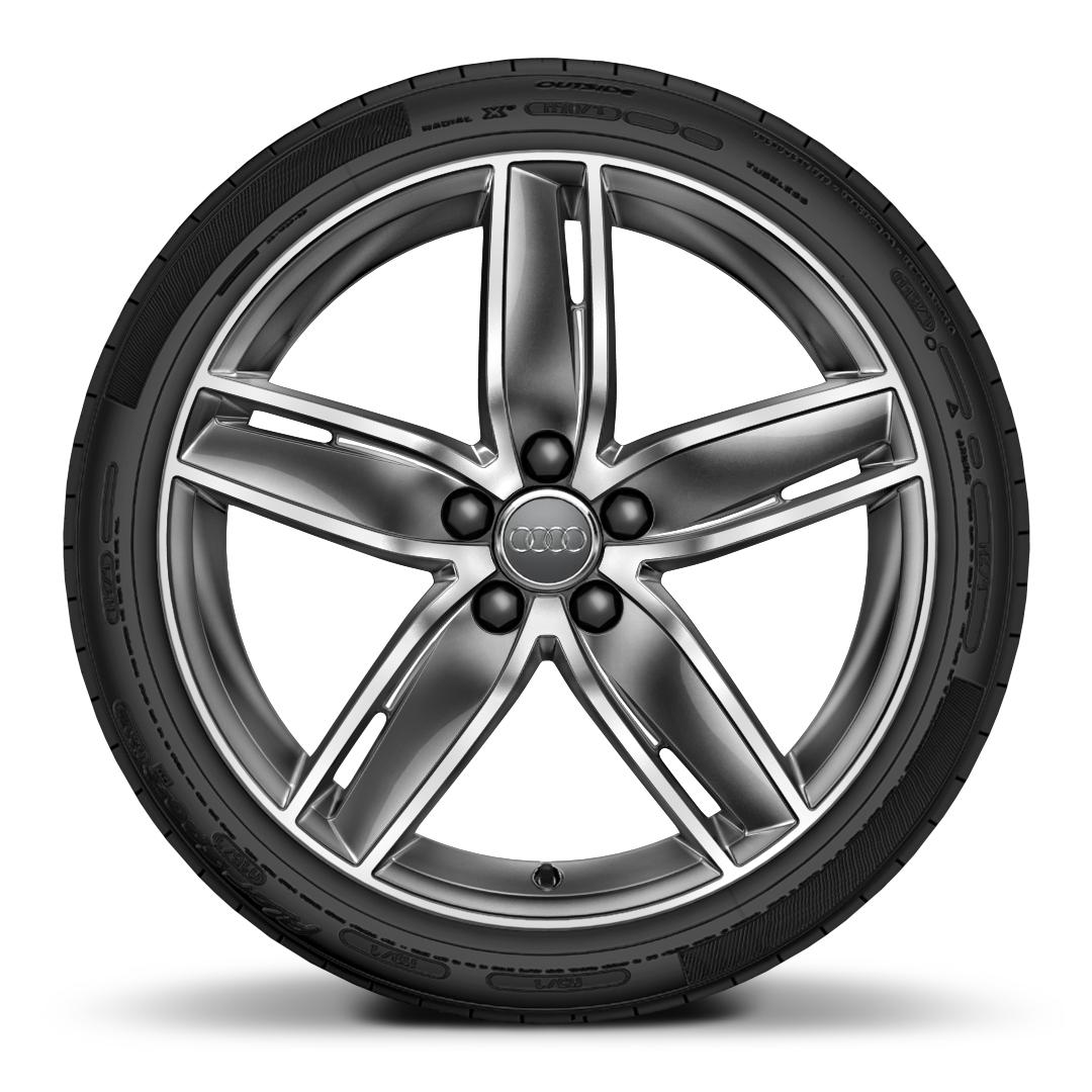 "19"" x 8.0J '5-arm-wing' design alloy wheels"