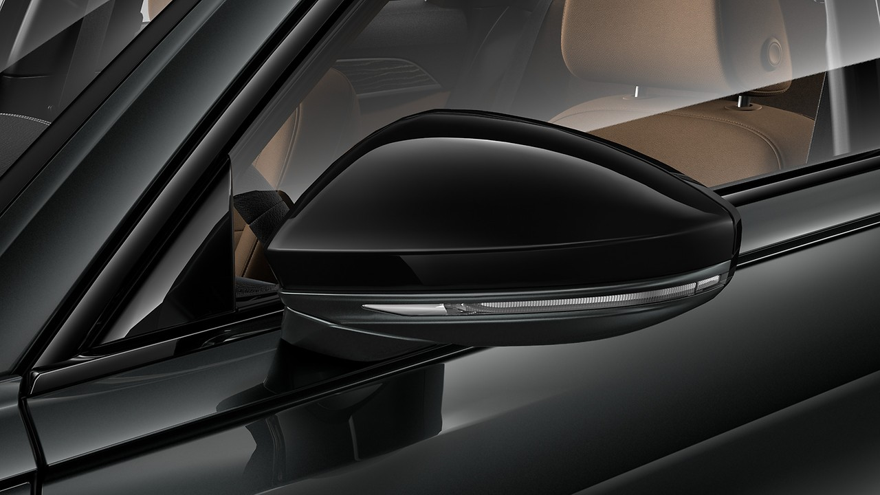 Black door mirror housing