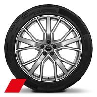 21x9.5J 5-V-spoke alloy