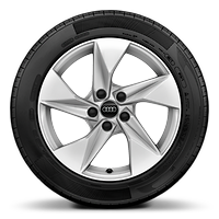 "17"" x 8.0J '5-arm style' alloy wheel with 225/45 R17 tyres"
