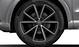 Aluminium-Gussräder Audi Sport im 5-V-Speichen-Design, Titanoptik matt, glanzgedreht, Größe 8,5 J x 20, mit Reifen 255/35 R 20