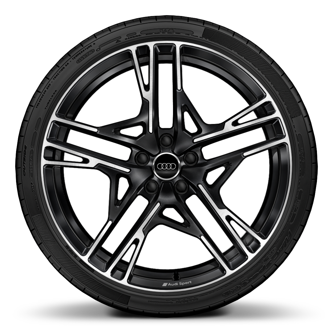 "20"" '5 twin-spoke dynamic' design forged aluminium wheels in gloss anthracite black"