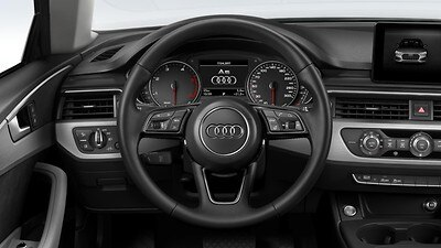 Heated 3-spoke leather trimmed high multi-function steering wheel