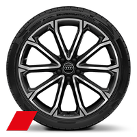 Alloy wheels, 5-V-spoke polygon style, Anthracite Black, diamond-turned, 8.5J x 21, 255/35 R21 tires