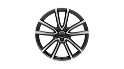 Cast aluminium wheel in 5-arm avius design, matt black, high-gloss turned finish, 8.5 J x 21