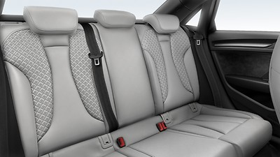 Folding rear seat backrest with 40:20:40 split and centre armrest