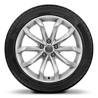 Alloy wheels, 10-spoke V-style, 8.0J x 18, 245/40 R18 tires