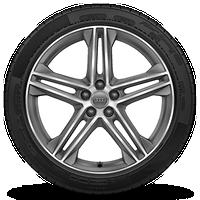 "20"" 5-double-spoke star design bi-color wheels"