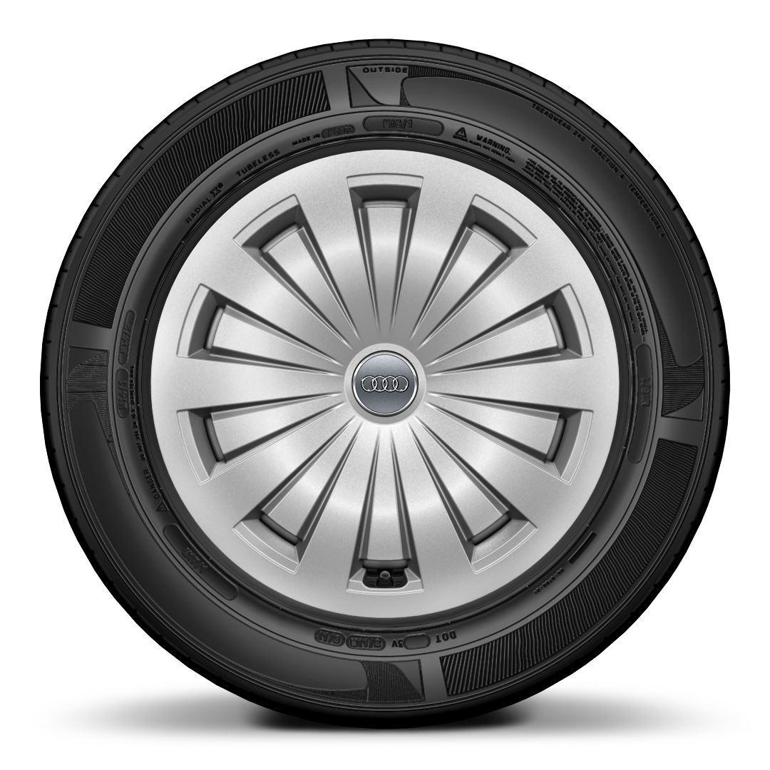 Lightweight forged wheels with full wheel cover, size 7J x 16, with 205/60 R16 tyres