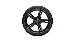 Complete winter wheel in 5-arm ramus design, black, 8.5 J x 19, 255/35 R19 96V XL