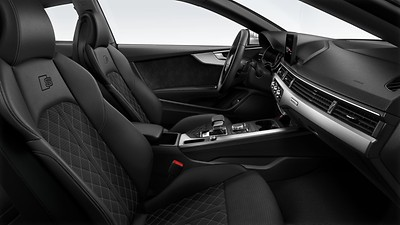S Sport front seats with integrated front head restraints and massage function