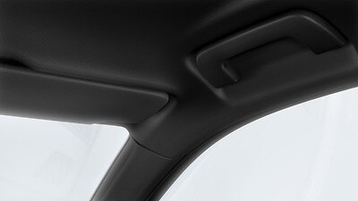 Black cloth headliner
