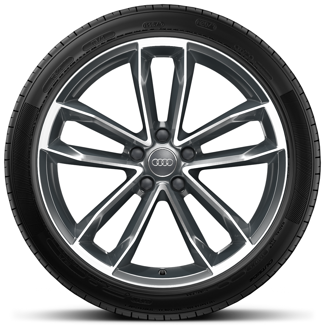 Lightweight alloy wheels in 5-spoke Cavo design, size 8.5J x 19, with 255/35 R19 tyres