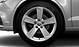 Легкосплавные диски Audi Sport, дизайн «5 рукавов Dynamic», частично полированные, размер 8J x 18