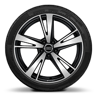 "19"" 5-arm blade style, glossy anthracite black , diamond cut, 8.5Jx19 front  255/30 R19 front, 8Jx19 rear,  235/35 R19 rear"