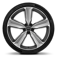 "20"" x 9.0J '5-arm peak' design alloy wheels, gloss-milled with 275/30 R20 tyres"