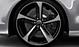 Легкосплавные диски Audi Sport, дизайн «5 спиц Blade», черные блестящие, c полированной обводкой, размер 9J x 21