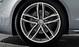 Aluminium-Gussräder Audi Sport im 5-Doppelspeichen-Design, Titanoptik matt, Größe 9 J x 20, mit Reifen 265/30 R 20