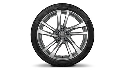 "19"" 5-double-arm design bi-color wheels"