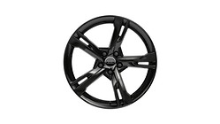 Cast aluminium winter wheel in 5-arm ramus design, black, 8.5 J x 19