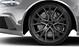 Cast aluminium alloy wheels, 5-V-spoke Star design, gloss anthracite black, size 9.5 J x 21, with 285/30 R 21 tyres