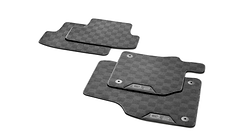 Textile floor mats Sports, for the front and rear, black