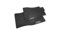 Deep-pile textile floor mat, for the third row of seats, black