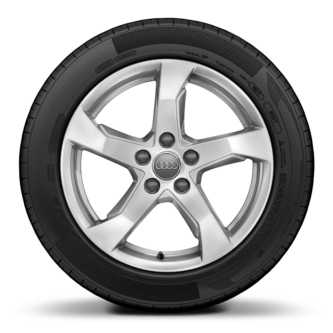 "17"" x 7.5J '5-arm' design alloy wheels with 225/45 R17 tyres"