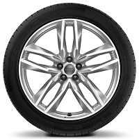 Audi Sport cast alloy wheels, 5-double spoke style, 9.5J x 21 with 285/40 R21 tires