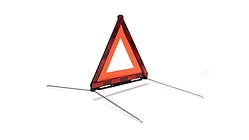 Warning triangle, foldable