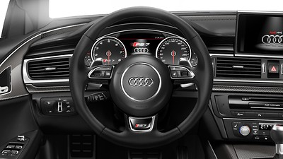 Heated 3-spoke, leather-covered multi-function sports steering wheel with shift paddles