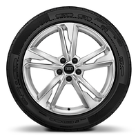 Alloy wheels, 5-double-spoke dynamic style (S style), 7.0J x 19, 235/50 R19 tires