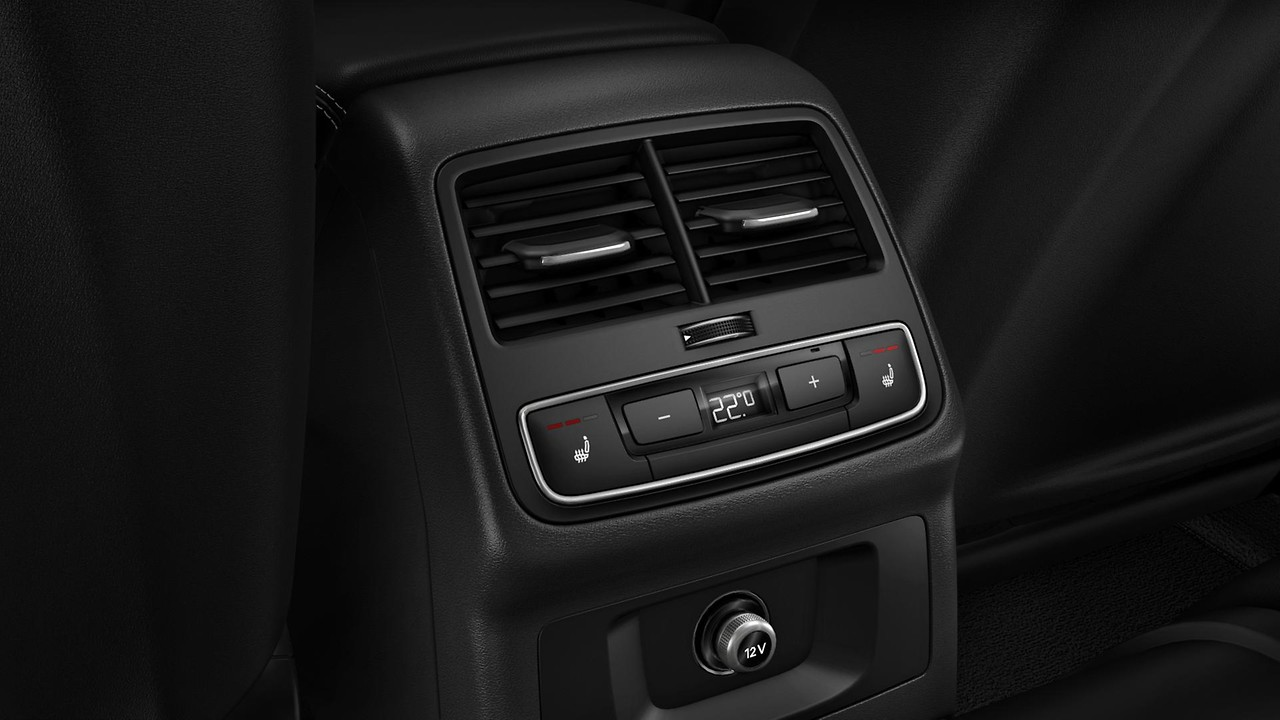 Seat heater for front and rear seats separately controlled