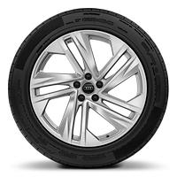 "20"" alloy wheels in 5-spoke turbine style with 285/45 tyres"