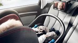 Audi Babyspiegel, zur Befestigung an der Rückbank