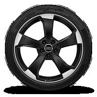 19寸铸造铝合金轮毂, 5辐转子设计, 黑色高光