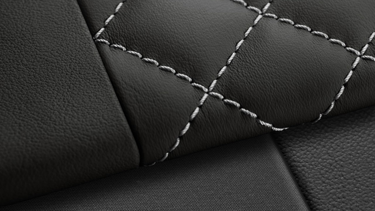 Diamond stitch full leather package