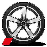 "20"" Audi Sport® 5-arm-cutter design high-gloss anthracite finish wheels"
